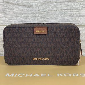 🌸Michael Kors LG Double Zip Travel Make Up Pouch
